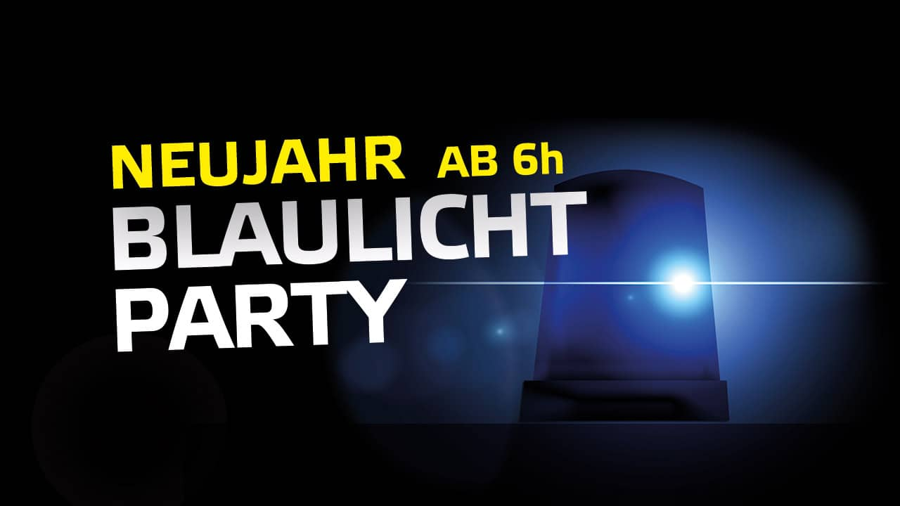 Blaulicht Party Neujahr Hannover